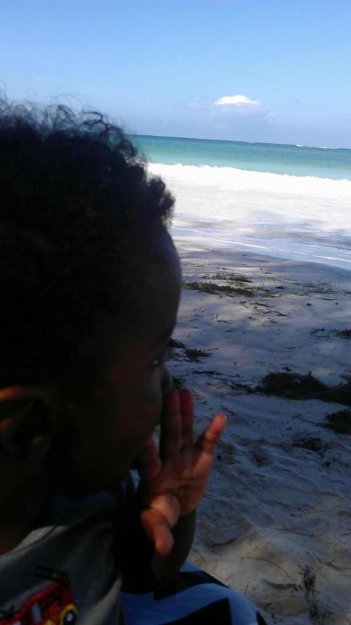 Liam Kenya beach